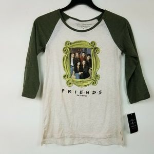 Love Tribe S Heather Graphic Friends Tee 6AR42